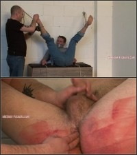 Tied Against The Wall, Verbal Bad-mouthing, Arse And Balls Flogged