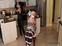 Sandra & Lisa, Barefoot Burglar Captures Buxom MOTHER ID LIKE TO FUCK