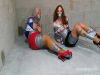 Sandra Silvers Lauren Kiley Double Duct Taped Damsels Bound And Gagged (2017)