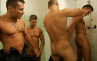 Sleazy Restroom Riders In Orgy