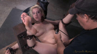 Pale Skinned Busty Blonde Cherry Torn Restrained In Fuck Me Position And Used Hard By Big Dick