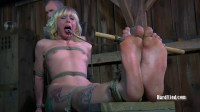 Bondage, Spanking And Castigation For Stripped Golden-haired Part 2