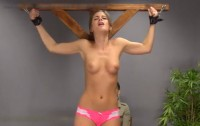 Bondage, Spanking And Torture For Young Brunette