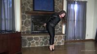 Elizabeth Andrews – Hobble Dress And Leather Bondage