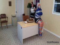 Sweater Secretaries In Duct Tape Torment – Breasts Exposed, Excessive