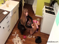 Housewife MILF Sandra Limp-ed, Bound &Gagged By Cougar Cat Burglar Darla Crane
