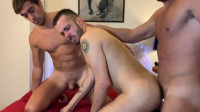 Bareback 3some One Muscle Top 2 Latin Bottoms