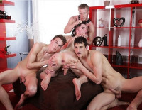 Johny Cruz Gets Triple-dicked & Covered In Cum