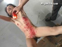 Cage Tied Girl Wax And Urine