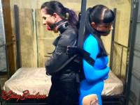 SBound – Caroline Pierce And Nyxon.. 2 Girl Straightjacket Struggle