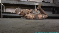 Snooty Sales Lady Bound With Pantyhose And Pied Pt. 3