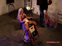 Strapped To The Exam Chair, Girdled MOTHER ID LIKE TO FUCK Endures Breast Bondage
