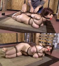 Hard Bondage, Hogtie And Torture For Naked Slut
