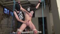 Draining The Bound Boys Big Dick