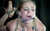 Girl Next Door In A Cat 5 Hogtied Breast Suspension ,Penny Pax , HD 720p