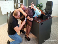 MOTHER ID LIKE TO FUCK Ladybosses Ballgagged, Bound Bent Over, Brought To Orgasm By Disgruntled