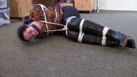 Busty Blond Tied Up And Gagged To Keep Her Out Of The Way
