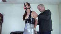 Hazel Allure – Latex Bondage With Mr Big Boss