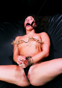 Gymnast Bella Danger Must Endure Rope Bondage