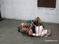 Sweaters, Skirts And Nylons Clad MOTHER ID LIKE TO FUCK Damsels In Distress Team Up For Escape
