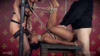 Tiny Slut Kahlista's Fucked On Table And Made To Cum Even