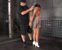 Bondage Newbie Tinslee Reagan Is Brutally Throat Trained By 2 Hard Cocks