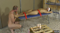 Foot Wanking With A Captive Twink