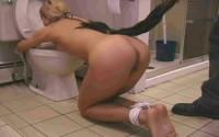 Bathroom Bondage Slave Natalia