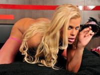 Thick And Busty Blonde Pinup Rafaella