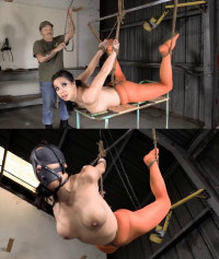 Extreme Bondage, Strappado And Torture For Very Horny Model