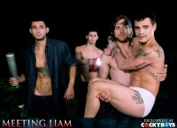 CockyBoys – Meeting Liam – Liam Riley, Levi Karter, Ricky Roman & Tayte Hanson