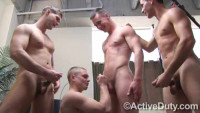 Rough Orgy With Young Soldiers