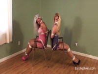 Two Nabbed MILFs In Vintage Girdles Bound Back To Back, Acquire Extraordinary