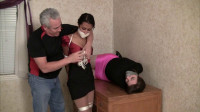 Drea Morgan,Lew Rubens, Elizabeth Andrews Entertaining The Visiting Boss