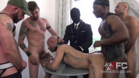 Rough Gangbang With Brutal Fuckers