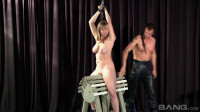 Blonde Adrianna Nicole Is Bound And At His Mercy For Climaxes