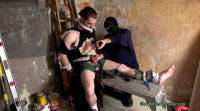 The Tied Youthful Guy Is Groped And Stroked Until His Ramrod