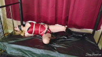 Aubree Lane – Hogtied In Her Satin Corset And Boots
