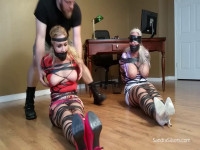 Sandra Silvers Whitney Morgan Gagged Blindfolded Torturous Electrical Tape Ties (2016)
