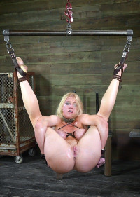 Big Titted Slut Is Hung By Her Ankles And Deeply Fucked To Multiple Orgasms , Darling , HD 720p
