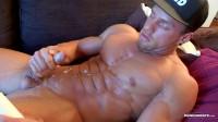 Muscular Macho Jerking Dick