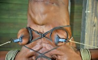 Ashley Starr – Professional Body Builder, Bound, Oiled, Hung Upside Down, Throat Fucked