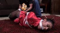 Sahrye Latin Chick Massage Therapist Crotch Roped, Hogtied Gagged