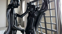 Super Tying, Domination And Soreness For 2 Hawt Gals In Latex Full HD 1080p