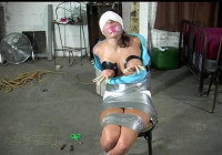 Breastbound, Blindfolded, Hairtied, Gagged Part 2