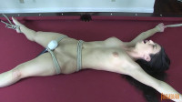 Fragile Slave Serena Bound And Cumming On Pool Table