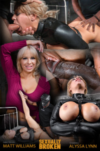 Sexuallybroken – Jan 27, 2016 – Big Breasted Alyssa Lynn Takes On Two Cocks While Bound