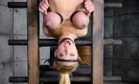 Blond Bimbo, Inverted With Automatic Cocksucking Machine