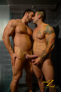 Jimmyz Production – Shower And Suck Part1 – Christian Powers, Emiliano