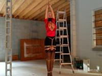 Sandra Silvers Hopping Secretary Sandra Gets Tied Arm Overhead (2017)